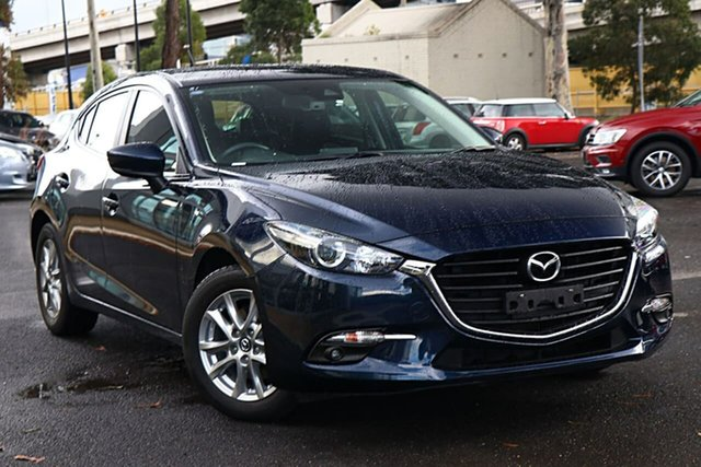 Used Mazda 3 BN5478 Touring SKYACTIV-Drive South Melbourne, 2018 Mazda 3 BN5478 Touring SKYACTIV-Drive Deep Crystal Blue 6 Speed Sports Automatic Hatchback