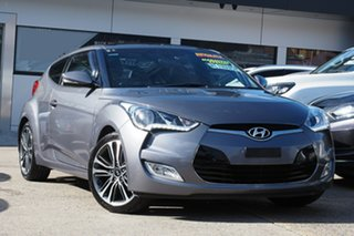 2015 Hyundai Veloster FS4 Series II + Coupe D-CT Silver 6 Speed Sports Automatic Dual Clutch.
