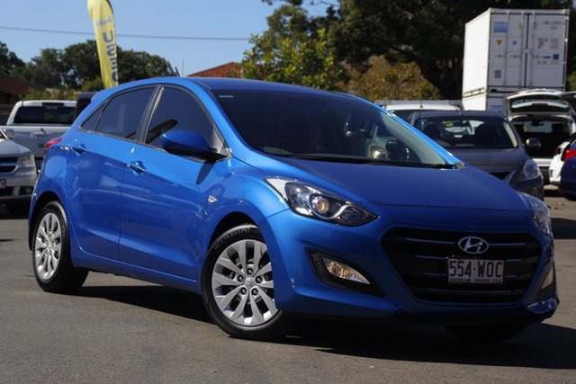 Used Hyundai i30 GD4 Series II MY16 Active Toowoomba, 2015 Hyundai i30 GD4 Series II MY16 Active Blue 6 Speed Sports Automatic Hatchback
