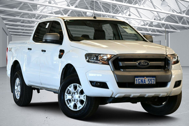 Used Ford Ranger PX MkII MY18 XLS 3.2 (4x4) Perth Airport, 2018 Ford Ranger PX MkII MY18 XLS 3.2 (4x4) Cool White 6 Speed Automatic Double Cab Pick Up