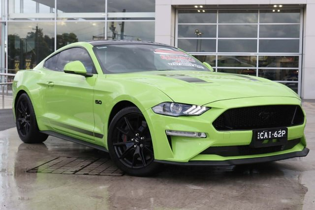 Used Ford Mustang FN 2020MY GT Liverpool, 2020 Ford Mustang FN 2020MY GT Grabber Lime 10 Speed Sports Automatic Fastback