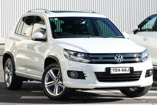 2015 Volkswagen Tiguan 5N MY16 155TSI DSG 4MOTION R-Line White 7 Speed Sports Automatic Dual Clutch.