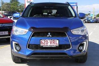 2015 Mitsubishi ASX XB MY15 XLS 2WD Blue 6 Speed Constant Variable Wagon.