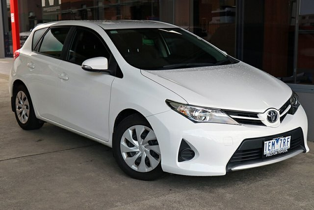Pre-Owned Toyota Corolla ZRE182R Ascent S-CVT Preston, 2014 Toyota Corolla ZRE182R Ascent S-CVT White 7 Speed Constant Variable Hatchback