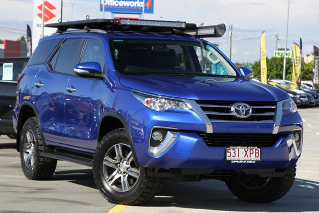 Used Toyota Fortuner GUN156R GXL Aspley, 2016 Toyota Fortuner GUN156R GXL Blue 6 Speed Automatic Wagon