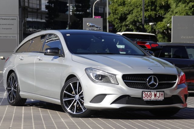 Used Mercedes-Benz CLA-Class X117 806MY CLA200 Shooting Brake DCT Newstead, 2015 Mercedes-Benz CLA-Class X117 806MY CLA200 Shooting Brake DCT Silver 7 Speed