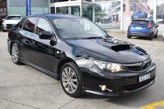 2008 Subaru Impreza G3 MY08 WRX AWD Black/Grey 5 Speed Manual Hatchback.