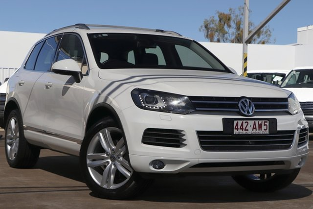Used Volkswagen Touareg 7P MY14 V6 TDI Tiptronic 4MOTION Bundamba, 2014 Volkswagen Touareg 7P MY14 V6 TDI Tiptronic 4MOTION White 8 Speed Sports Automatic Wagon
