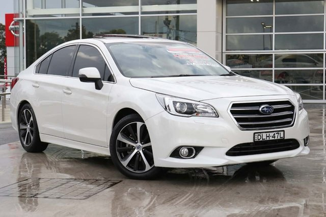 Used Subaru Liberty B6 MY16 2.5i CVT AWD Premium Liverpool, 2016 Subaru Liberty B6 MY16 2.5i CVT AWD Premium Crystal White 6 Speed Constant Variable Sedan