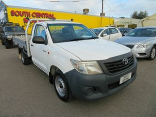 2014 Toyota Hilux TGN16R MY14 Workmate White 5 Speed Manual Cab Chassis.