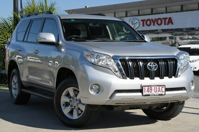 Pre-Owned Toyota Landcruiser Prado GDJ150R GXL North Lakes, 2016 Toyota Landcruiser Prado GDJ150R GXL Silver Pearl 6 Speed Sports Automatic Wagon