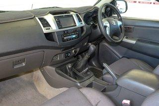 2011 Toyota Hilux KUN26R MY12 SR5 (4x4) Glacier White 5 Speed Manual X Cab Pickup