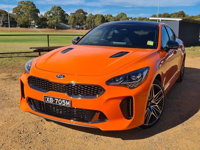 Demo Kia Stinger CK MY21 GT Fastback St Marys, 2021 Kia Stinger CK MY21 GT Fastback Neon Orange 8 Speed Sports Automatic Sedan