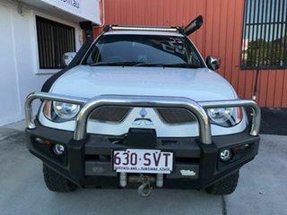 2008 Mitsubishi Triton ML MY08 GLX-R Double Cab White 5 Speed Manual Utility.