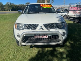 2006 Mitsubishi Triton ML MY07 GLX-R Double Cab White 5 Speed Manual Utility