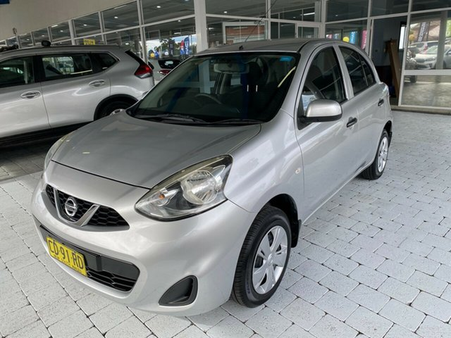 Used Nissan Micra ST Taree, 2015 Nissan Micra ST Silver Automatic Hatchback