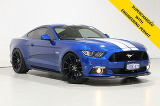 2017 Ford Mustang FM MY17 Fastback GT 5.0 V8 Blue 6 Speed Manual Coupe.