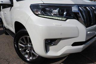 2017 Toyota Landcruiser Prado GDJ150R Kakadu White 6 Speed Sports Automatic Wagon.