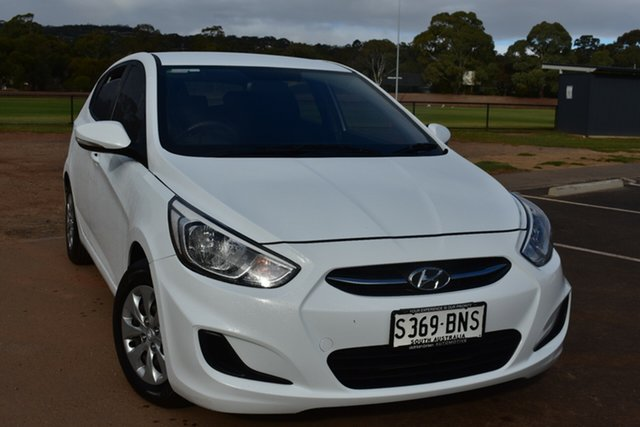 Used Hyundai Accent RB4 MY16 Active St Marys, 2016 Hyundai Accent RB4 MY16 Active White 6 Speed Constant Variable Hatchback