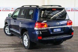 2019 Toyota Landcruiser VDJ200R Sahara Onyx Blue 6 Speed Sports Automatic Wagon.