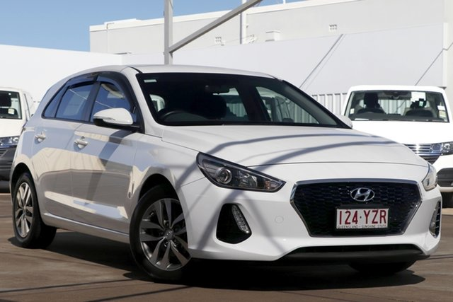 Used Hyundai i30 PD2 MY19 Active Bundamba, 2019 Hyundai i30 PD2 MY19 Active White 6 Speed Sports Automatic Hatchback