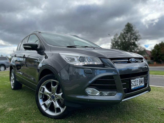 Used Ford Kuga TF MY16.5 Titanium AWD Hindmarsh, 2016 Ford Kuga TF MY16.5 Titanium AWD Grey 6 Speed Sports Automatic Wagon