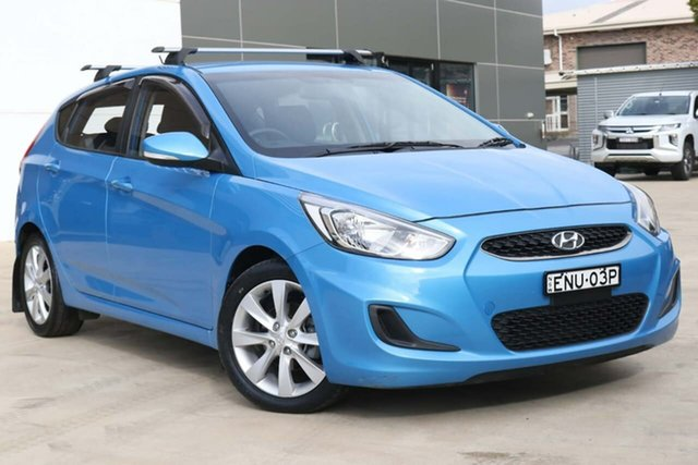 Used Hyundai Accent RB6 MY18 Sport Tuggerah, 2018 Hyundai Accent RB6 MY18 Sport Blue 6 Speed Sports Automatic Hatchback