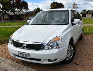 2011 Kia Grand Carnival VQ MY12 S White 6 Speed Sports Automatic Wagon.