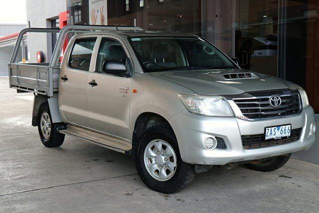 Pre-Owned Toyota Hilux KUN26R MY12 SR Double Cab Preston, 2012 Toyota Hilux KUN26R MY12 SR Double Cab Silver 5 Speed Manual Utility