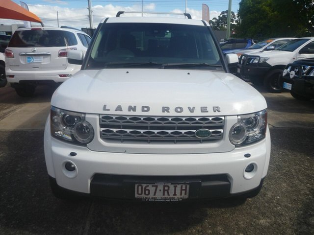 Used Land Rover Discovery 4 Series 4 10MY TdV6 CommandShift Morayfield, 2010 Land Rover Discovery 4 Series 4 10MY TdV6 CommandShift White 6 Speed Automatic Wagon
