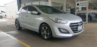 2016 Hyundai i30 GD4 Series II MY17 Active X Platinum Silver 6 Speed Sports Automatic Hatchback.