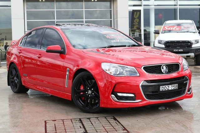 Used Holden Commodore VF II MY16 SS V Redline Liverpool, 2016 Holden Commodore VF II MY16 SS V Redline Red Hot 6 Speed Sports Automatic Sedan