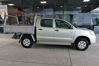 2012 Toyota Hilux KUN26R MY12 SR Double Cab Silver 5 Speed Manual Utility.