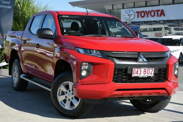 Pre-Owned Mitsubishi Triton MR MY19 GLX+ Double Cab North Lakes, 2018 Mitsubishi Triton MR MY19 GLX+ Double Cab Red 6 Speed Manual Utility