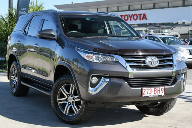 Pre-Owned Toyota Fortuner GUN156R GXL North Lakes, 2017 Toyota Fortuner GUN156R GXL Graphite 6 Speed Automatic Wagon