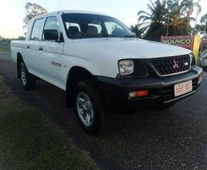 2003 Mitsubishi Triton MK MY04 GLX Double Cab 4x2 White 5 Speed Manual Utility.