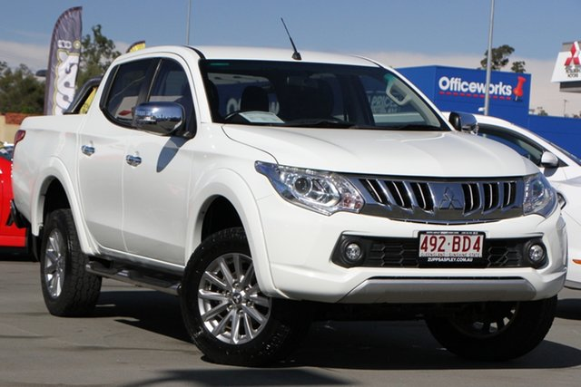 Used Mitsubishi Triton MQ MY16 GLS Double Cab Aspley, 2016 Mitsubishi Triton MQ MY16 GLS Double Cab White 6 Speed Manual Utility