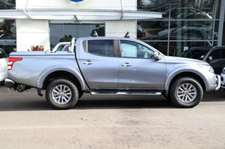 2015 Mitsubishi Triton MQ MY16 GLS Double Cab Grey 5 Speed Sports Automatic Utility.