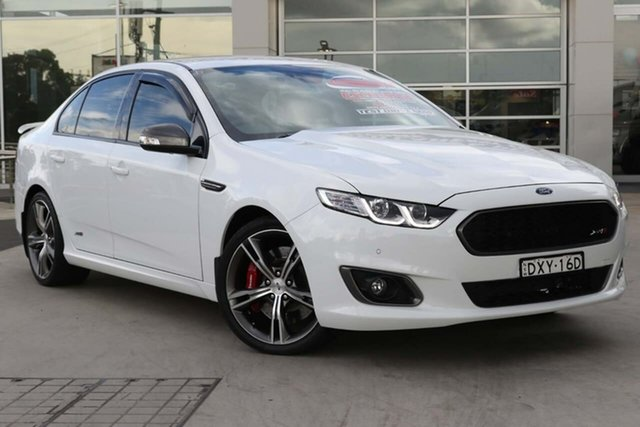Used Ford Falcon FG X XR8 Liverpool, 2016 Ford Falcon FG X XR8 Winter White 6 Speed Sports Automatic Sedan