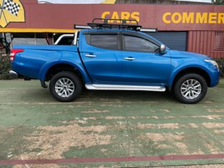 2017 Mitsubishi Triton MQ MY18 GLS Double Cab Blue 5 Speed Sports Automatic Utility.