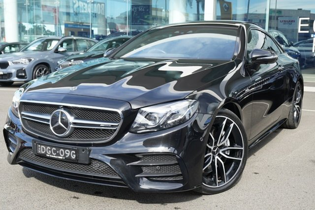 Used Mercedes-AMG E53 238 MY19 4Matic+ EQ (Hybrid) Brookvale, 2018 Mercedes-AMG E53 238 MY19 4Matic+ EQ (Hybrid) Obsidian Black 9 Speed Automatic G-Tronic Coupe