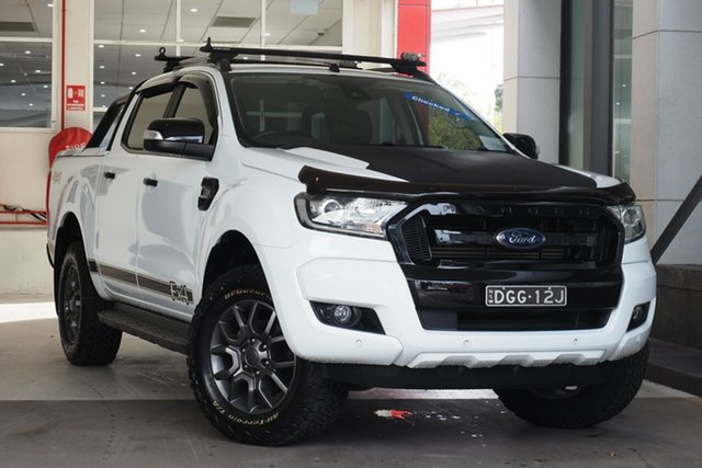 Used Ford Ranger PX MkII 2018.00MY FX4 Double Cab Parramatta, 2018 Ford Ranger PX MkII 2018.00MY FX4 Double Cab White 6 Speed Sports Automatic Utility