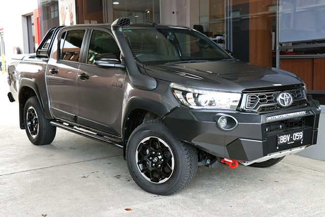 Pre-Owned Toyota Hilux GUN126R Rugged X Double Cab South Morang, 2019 Toyota Hilux GUN126R Rugged X Double Cab Grey 6 Speed Sports Automatic Utility