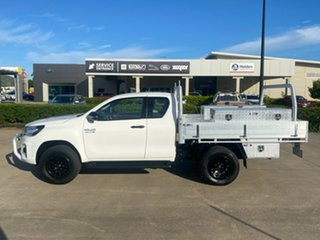 2018 Toyota Hilux GUN126R SR Extra Cab White 6 Speed Sports Automatic Cab Chassis