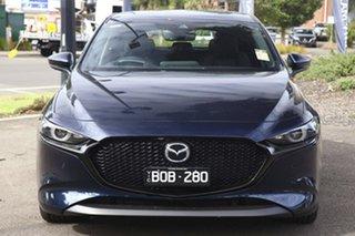 2020 Mazda 3 BP2HHA X20 SKYACTIV-Drive Astina Deep Crystal Blue 6 Speed Sports Automatic Hatchback.