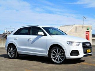2016 Audi Q3 8U MY17 TFSI S Tronic Quattro Sport White 7 Speed Sports Automatic Dual Clutch Wagon.