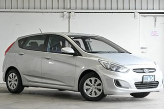 2016 Hyundai Accent RB3 MY16 Active Silver 6 Speed Manual Hatchback.