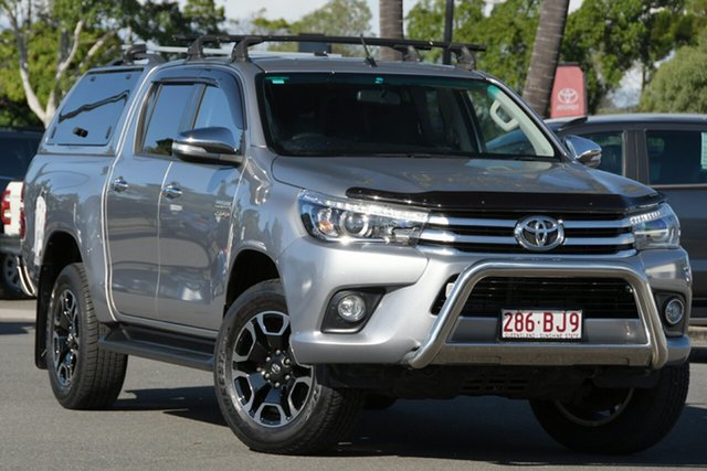 Used Toyota Hilux GUN126R SR5 Double Cab North Lakes, 2016 Toyota Hilux GUN126R SR5 Double Cab Silver 6 Speed Sports Automatic Utility