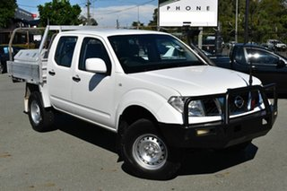 2014 Nissan Navara D40 MY13 RX (4x4) White 5 Speed Automatic Dual Cab Chassis.