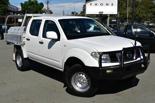 Used Nissan Navara D40 MY13 RX (4x4) Underwood, 2014 Nissan Navara D40 MY13 RX (4x4) White 5 Speed Automatic Dual Cab Chassis